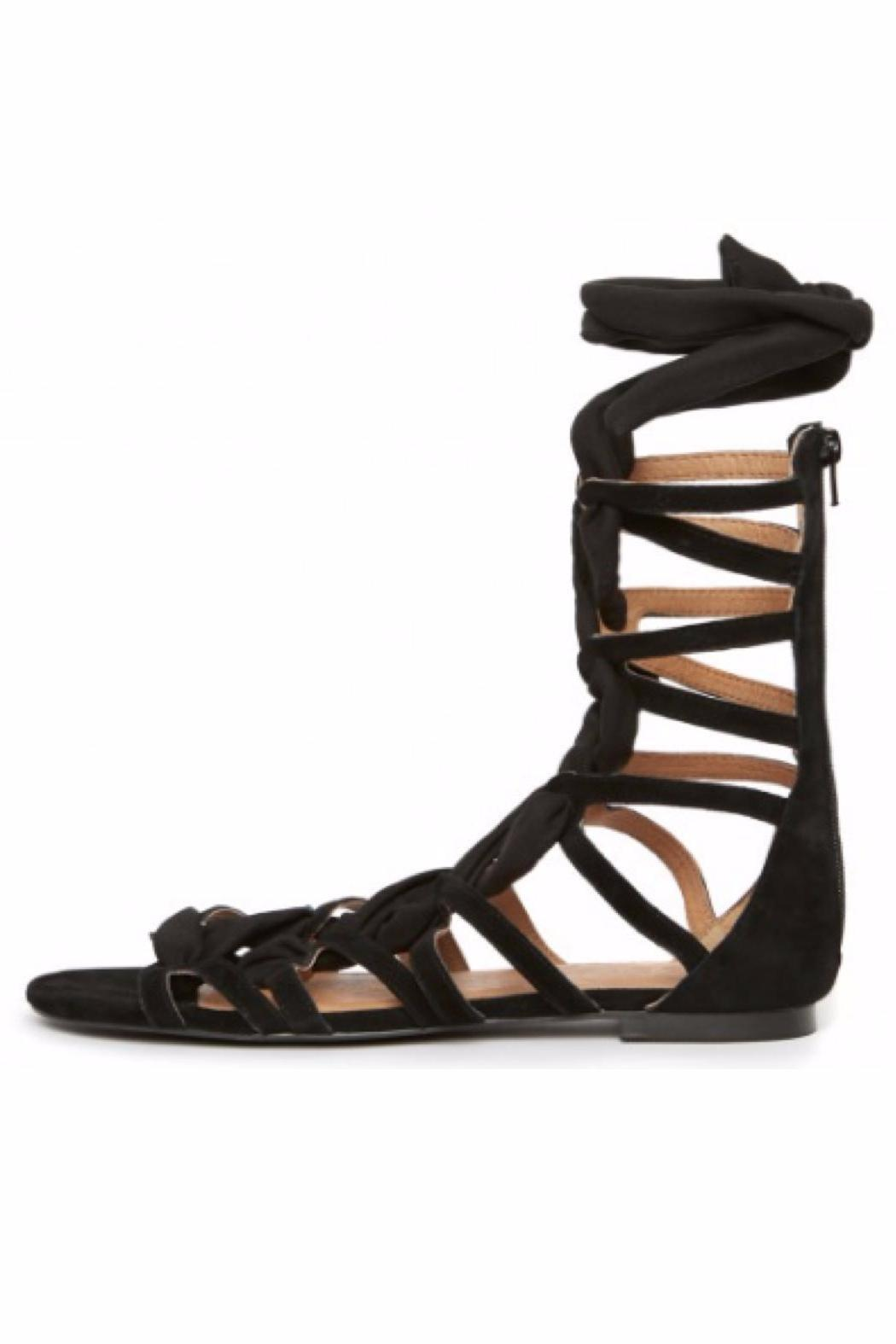 Jaggar Zigzag Ribbon Sandal - Side Cropped Image