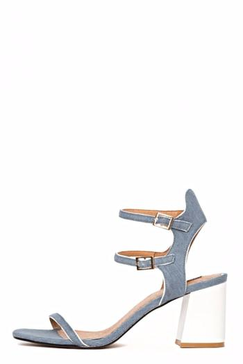 Shoptiques Product: Denim Projection Heel - main