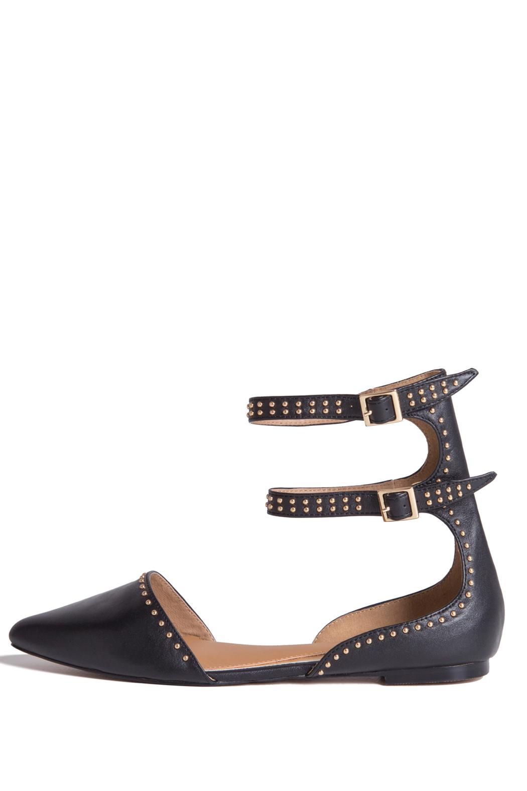Jaggar Footwear Studded Aperture Flats - Front Cropped Image