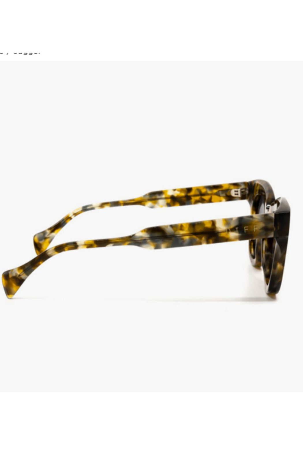 DIFF Jagger Tortoise with Grey Lens Sunglasses - Side Cropped Image