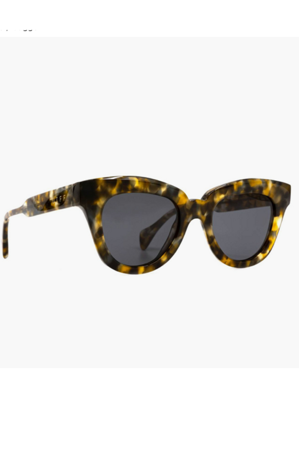 DIFF Jagger Tortoise with Grey Lens Sunglasses - Front Full Image