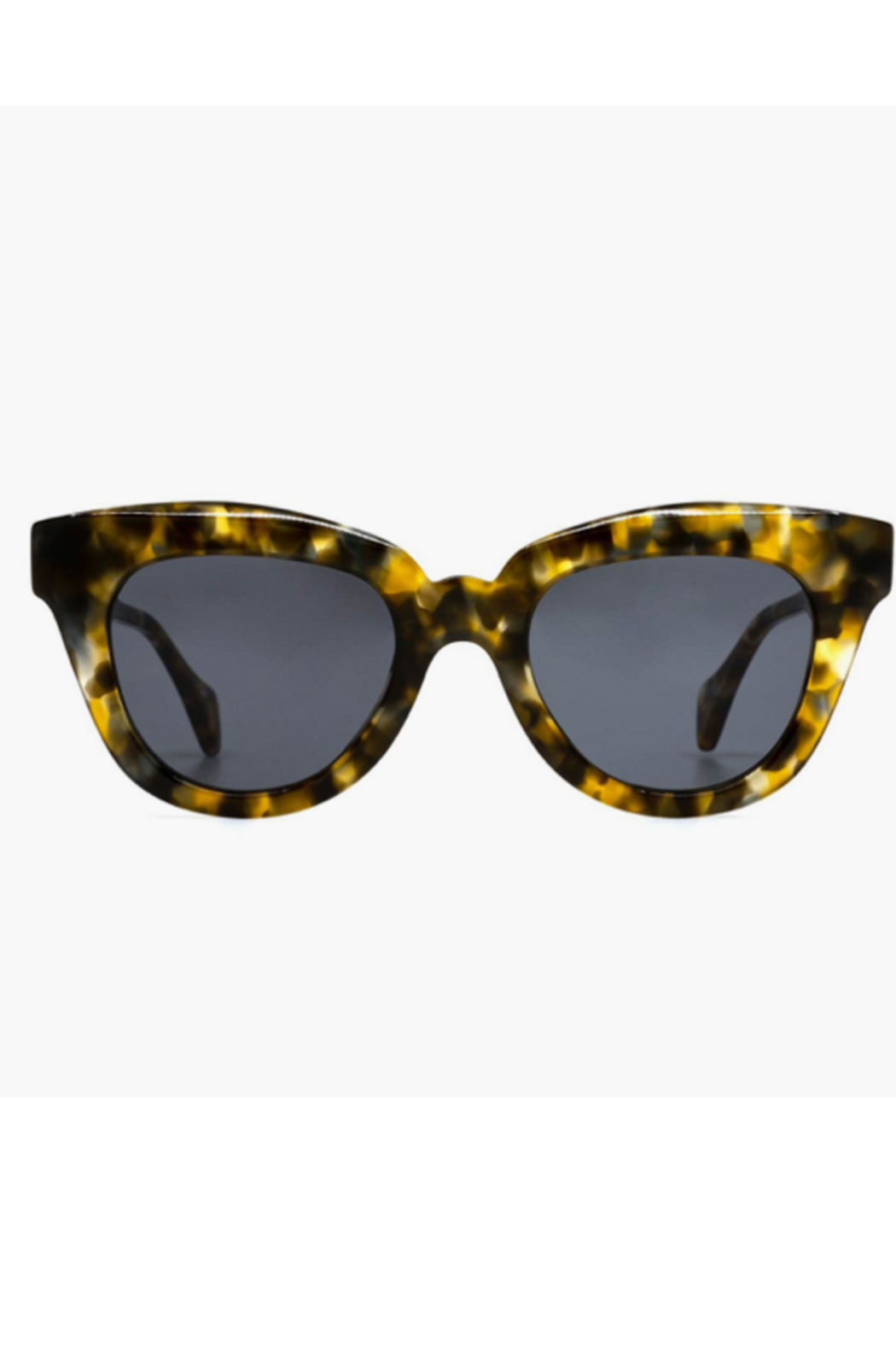 DIFF Jagger Tortoise with Grey Lens Sunglasses - Front Cropped Image