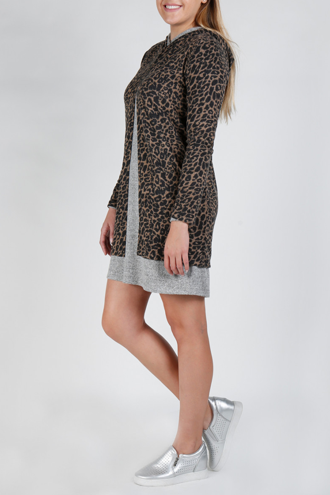 Coin 1804 Jaguar Hooded Cardigan - Front Cropped Image
