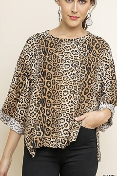 Shoptiques Product: Jaguar Print 3/4 Sleeve Top