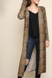 Umgee USA Jaguar-Print Long Cardigan - Product Mini Image