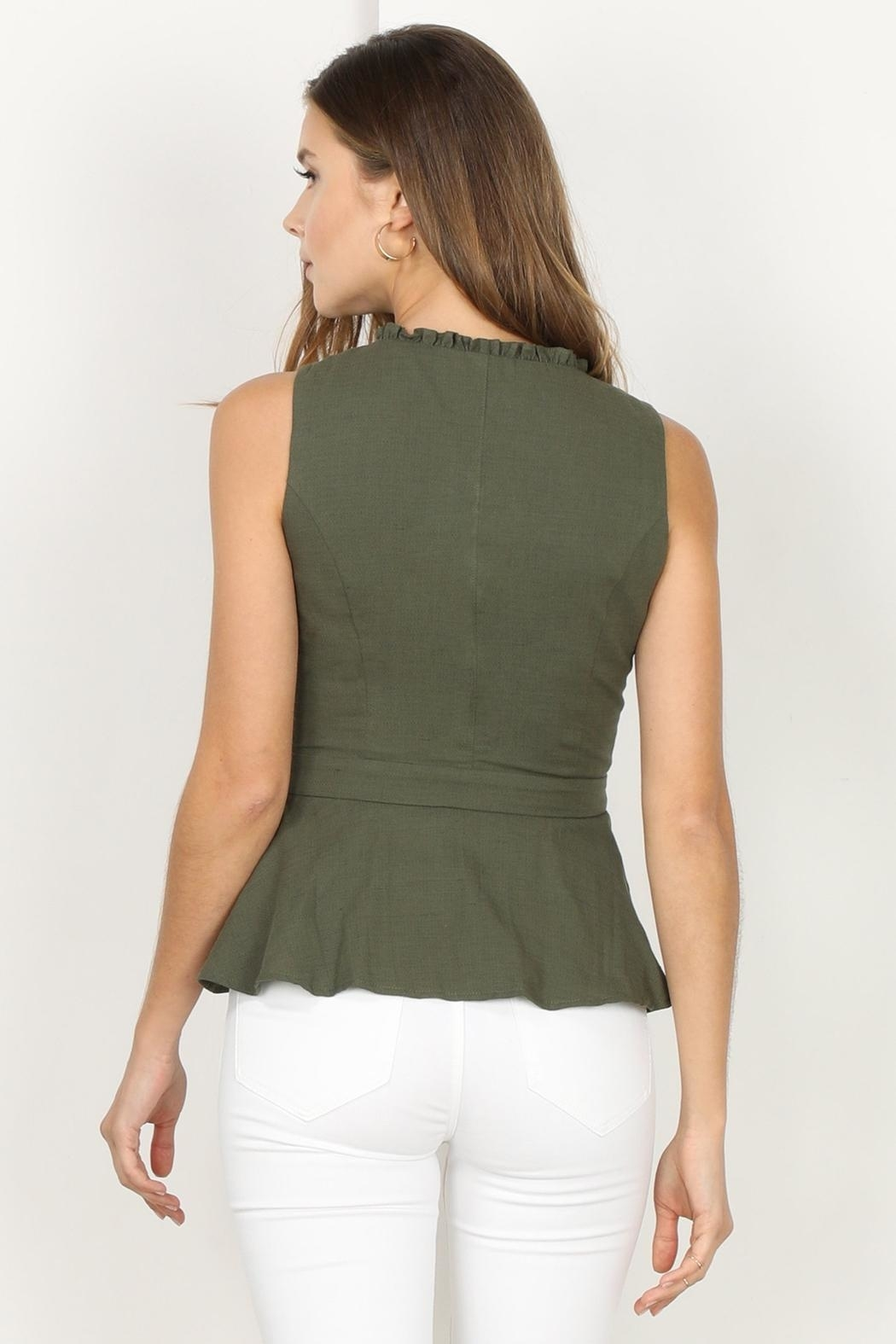 Adelyn Rae Jaime Woven Wrap Top - Front Full Image