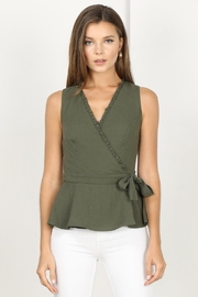 Adelyn Rae Jaime Woven Wrap Top - Product Mini Image