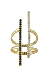 Jaime Nicole Gold Adjustable Bar-Ring - Product Mini Image