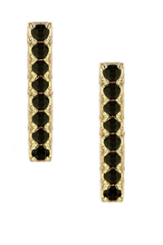 Jaime Nicole Gold&Black Stud Earrings - Product Mini Image