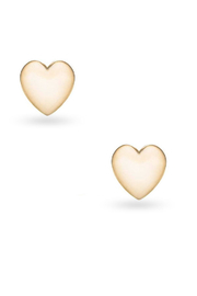 Jaime Nicole Gold Heart Earrings - Front cropped