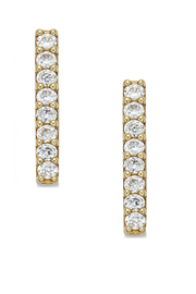 Jaime Nicole Gold Stud Earrings - Side cropped