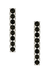 Jaime Nicole Silver&Black Earrings - Product Mini Image