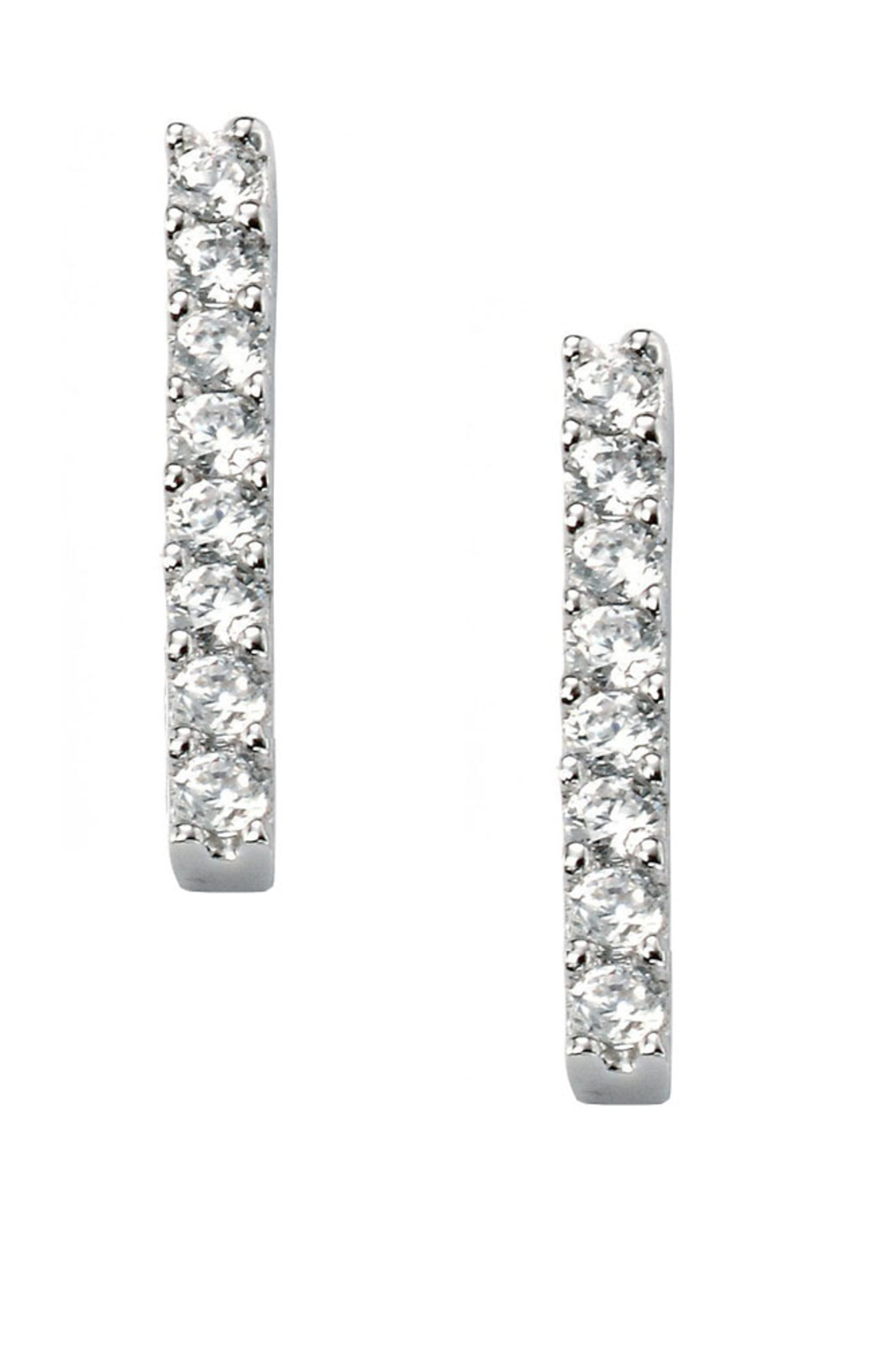 Jaime Nicole Silver Stud Earrings - Front Cropped Image