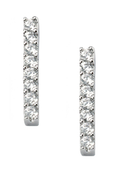 Jaime Nicole Silver Stud Earrings - Product Mini Image