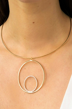 Jaimie Nicole Gold Collar Necklace - Alternate List Image