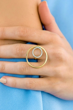 Jaimie Nicole Gold CZ Ring - Alternate List Image