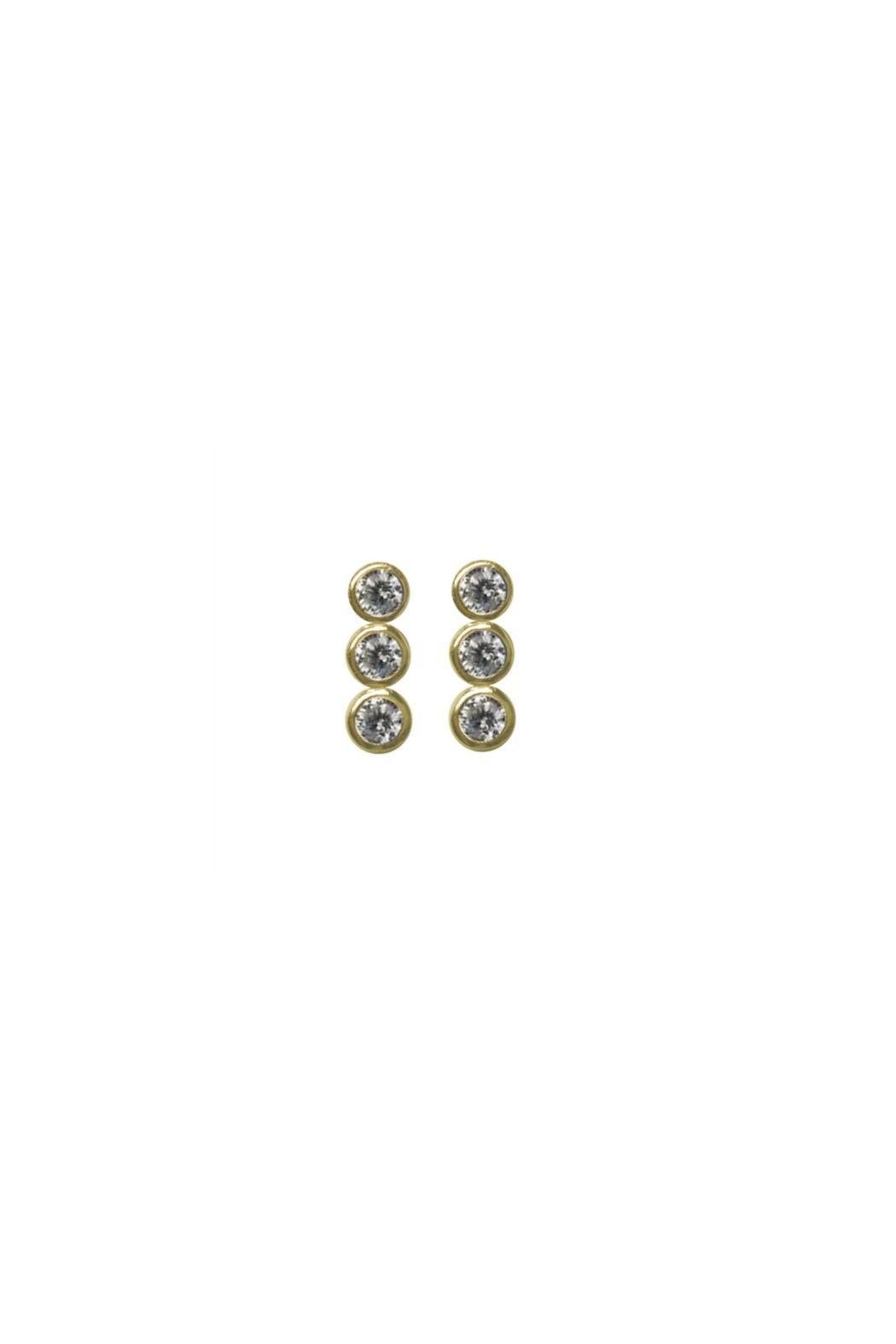 Jaimie Nicole Gold Cz-Stud Earrings - Front Cropped Image