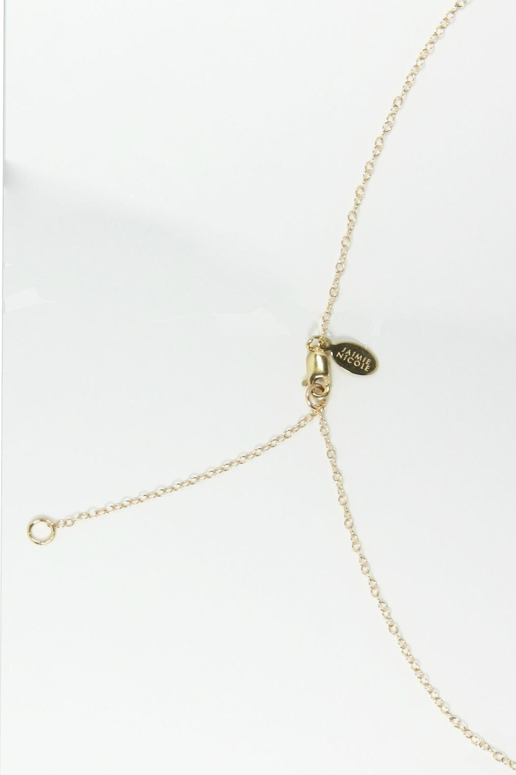 Jaimie Nicole Gold Graduated Necklace - Side Cropped Image