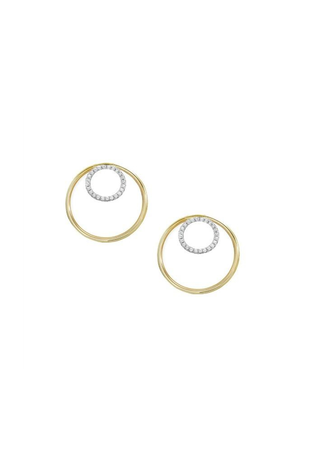 Jaimie Nicole Gold Hoop Earrings - Front Cropped Image