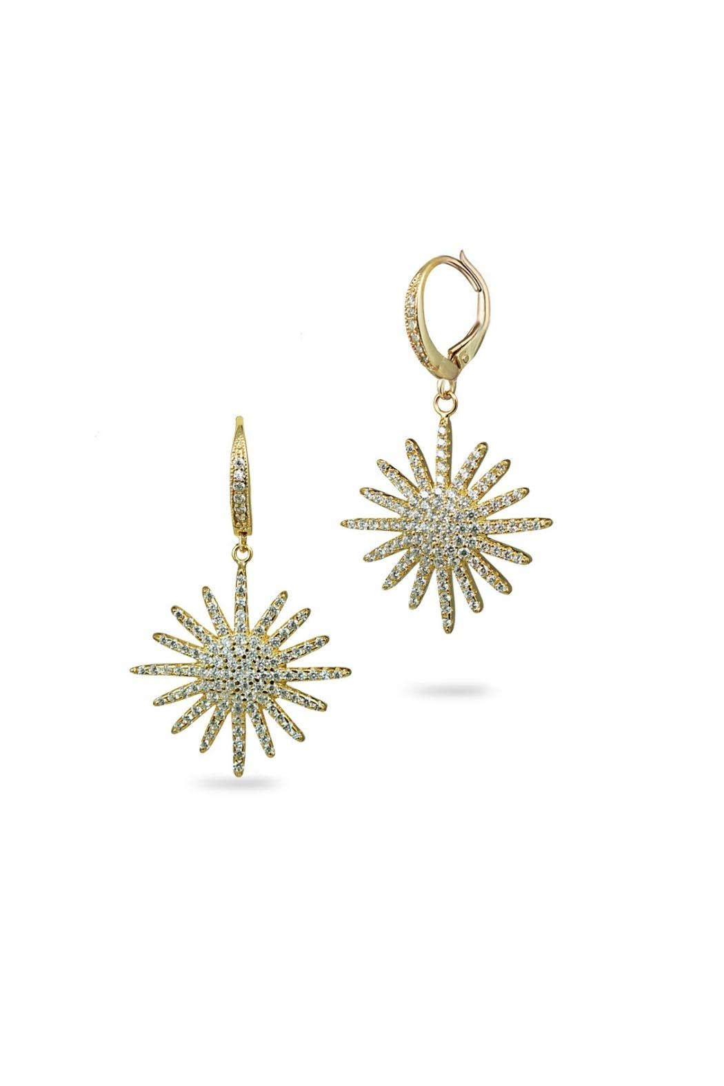 Jaimie Nicole Gold Starburst Drop Earrings - Main Image