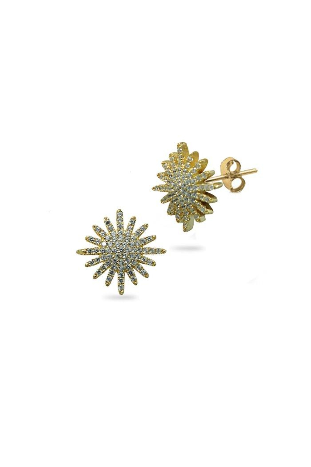 Jaimie Nicole Gold Starburst Earrings - Front Cropped Image