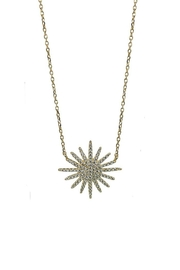 Jaimie Nicole Gold Starburst Necklace - Front cropped