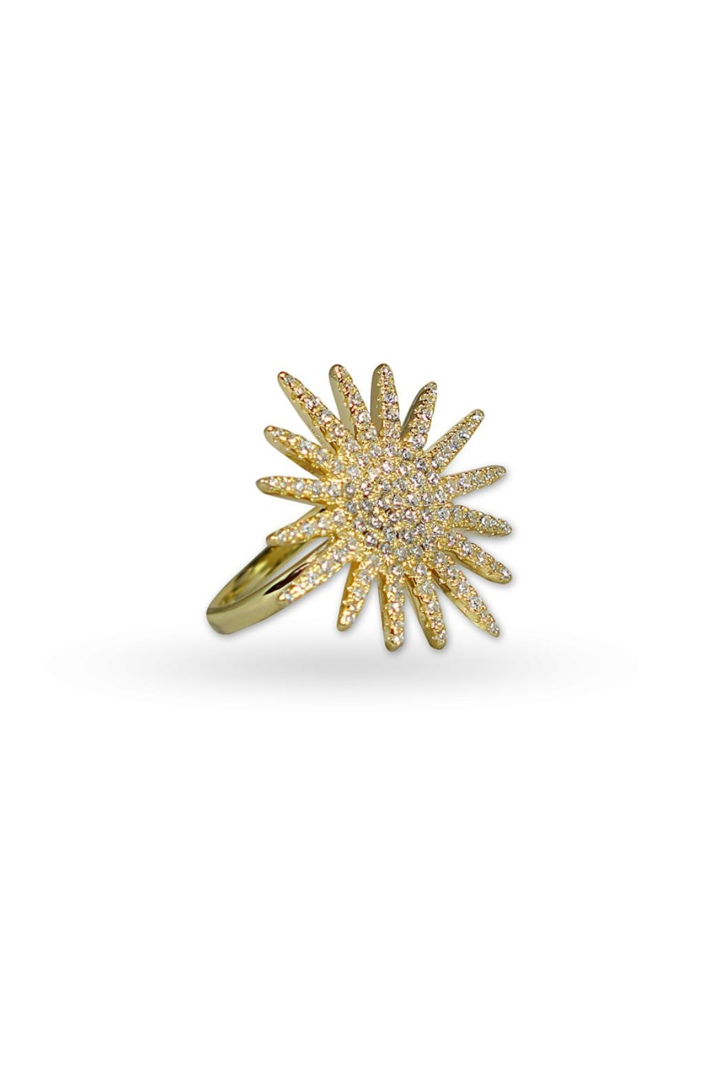 Jaimie Nicole Large-Gold Starburst Ring - Main Image