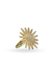 Jaimie Nicole Large-Gold Starburst Ring - Front cropped