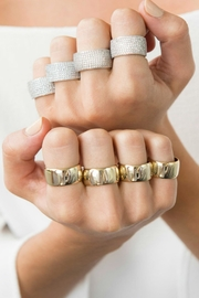 Jaimie Nicole Pave Band Ring - Front full body