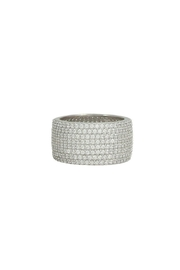 Jaimie Nicole Pave Band Ring - Front cropped