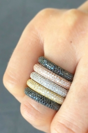 Jaimie Nicole Rose Gold Pave Ring - Other