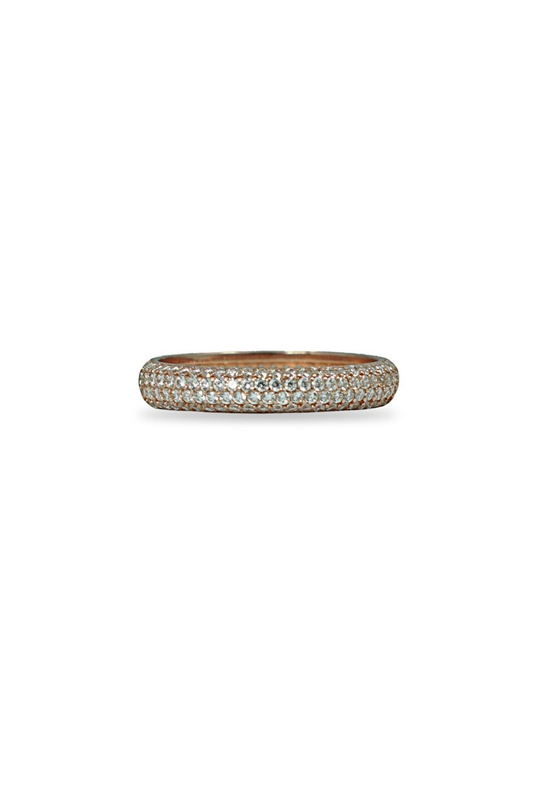 Jaimie Nicole Rose Gold Pave Ring - Front Cropped Image