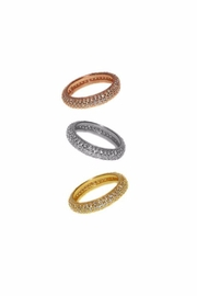 Jaimie Nicole Rose Gold Pave Ring - Product Mini Image