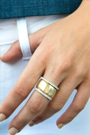 Jaimie Nicole Silver Band Ring - Side cropped
