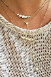 Jaimie Nicole Silver Graduated Necklace - Other