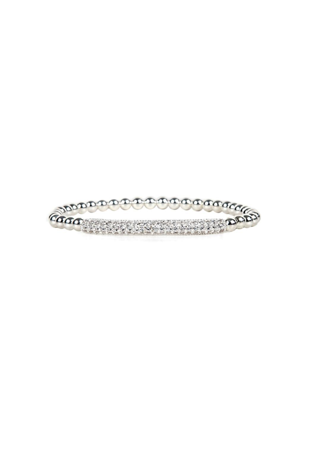 Jaimie Nicole Silver Pave Bar Bracelet - Front Cropped Image