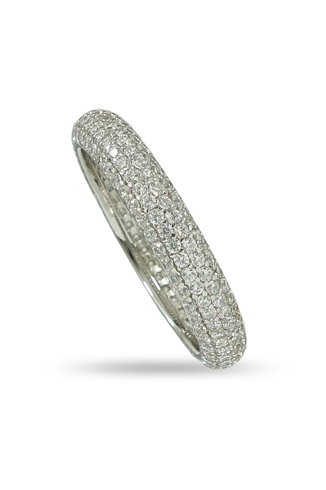 Jaimie Nicole Silver Pave Ring - Front Cropped Image