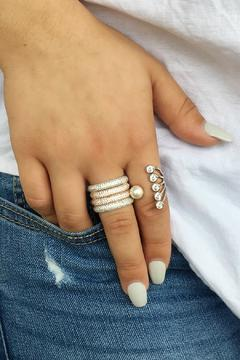 Shoptiques Product: Silver Pave Ring