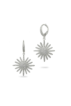 Jaimie Nicole Silver Starburst Drop Earrings - Product List Image