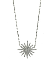 Jaimie Nicole Silver Starburst Necklace - Front cropped
