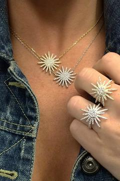 Shoptiques Product: Silver Starburst Ring