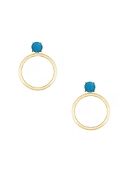 Jaimie Nicole Turquoise Hoop Earrings - Product Mini Image