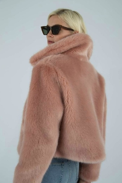 Jakke Cropped Pink Faux-Fur Jacket - Alternate List Image
