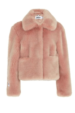 Jakke Cropped Pink Faux-Fur Jacket - Product List Image