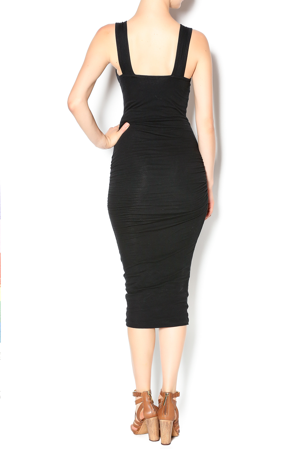 James Perse Long Lean Dress - Back Cropped Image
