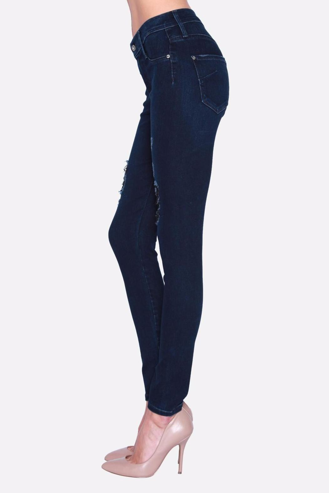 James Jeans Skinny Distressed Jeggings - Side Cropped Image