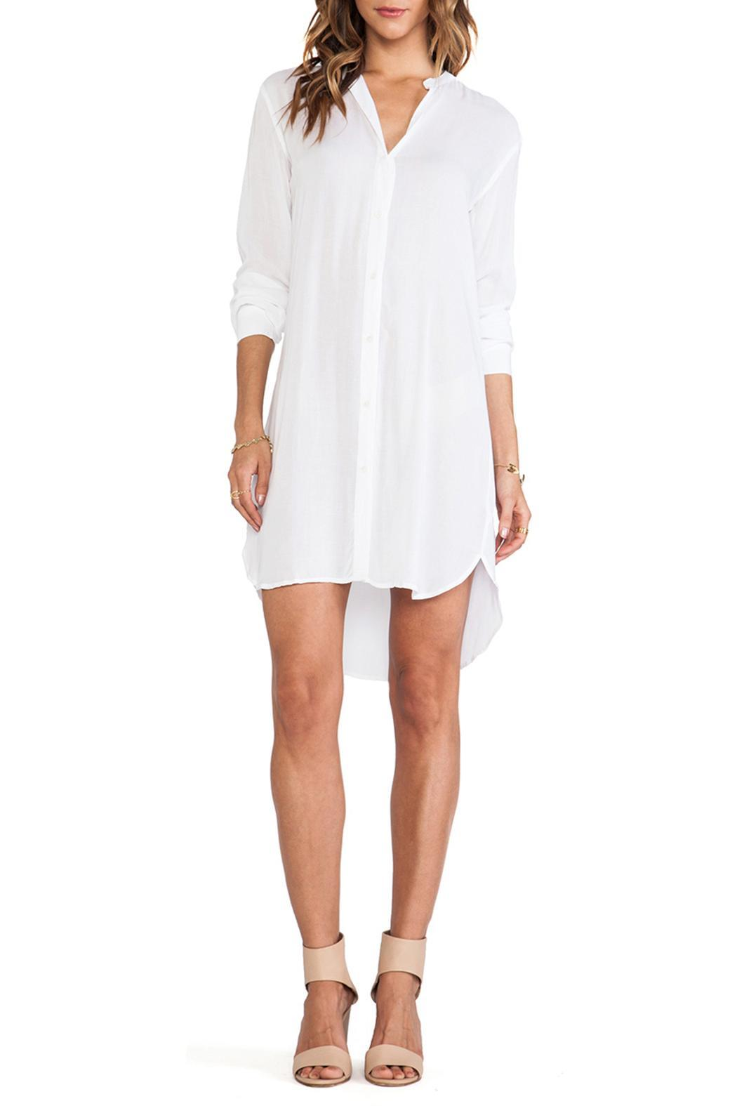 James Perse Collarless White Shirtdress From Vermont By