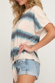 She + Sky Jamie Front-Tie Shirt - Other