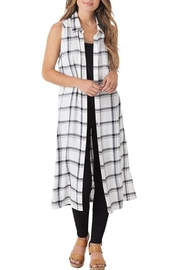 Mud Pie Jamie Plaid Duster - Product Mini Image