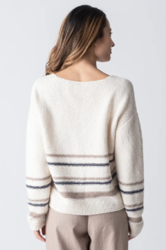 Margaret O'Leary Jamie Striped Cardigan - Product List Image